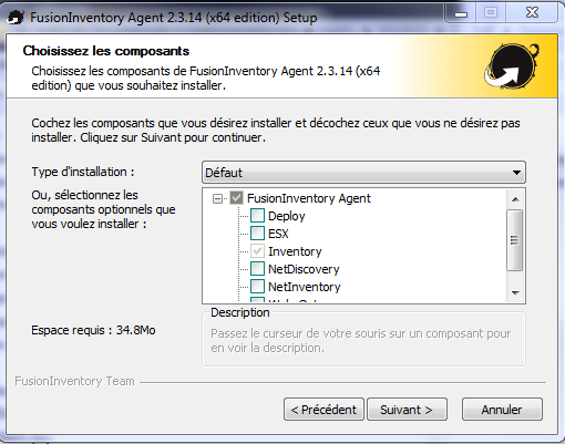 fusioninventory agent windows 7