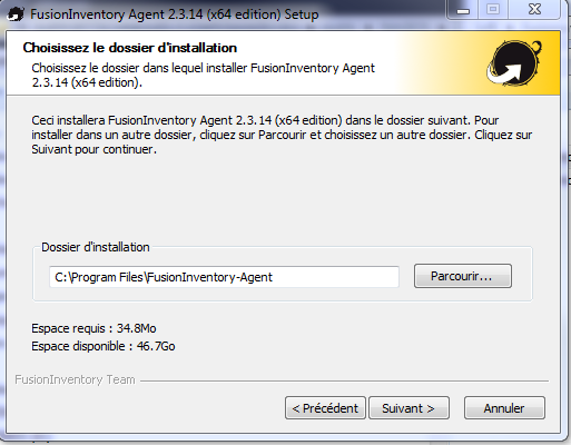 agent fusioninventory pour windows
